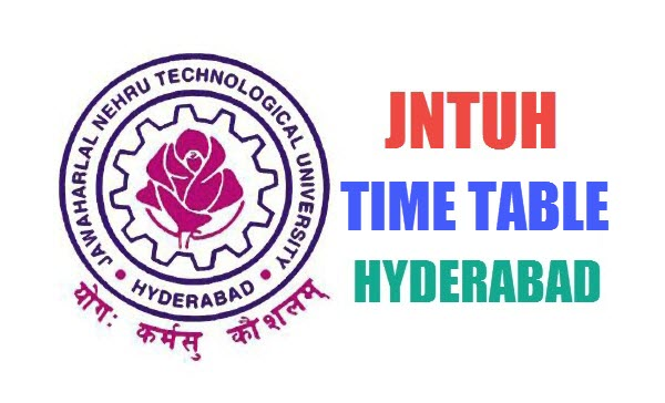 jntuh Time Table - Exam Dates Hyderabad