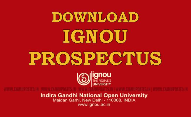 Ignou Prospectus 2020 All Distance Education Courses