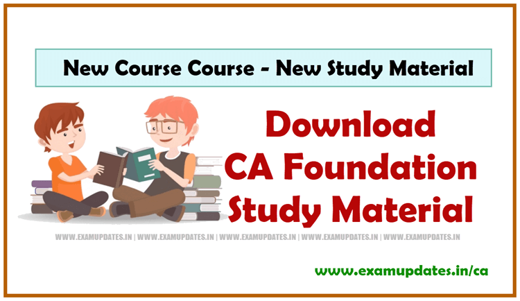 CA Foundation Study Material for Nov 2019 - New CA CPT Course