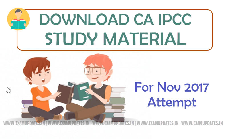 CA IPCC Study Material For May 2018