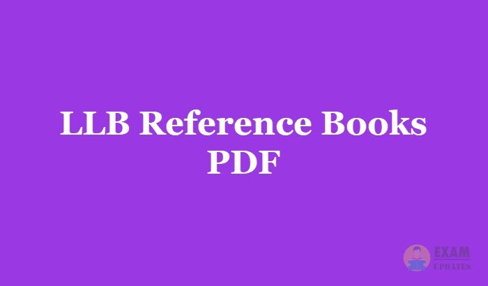 LLB Reference Books PDF & Recommended Authors