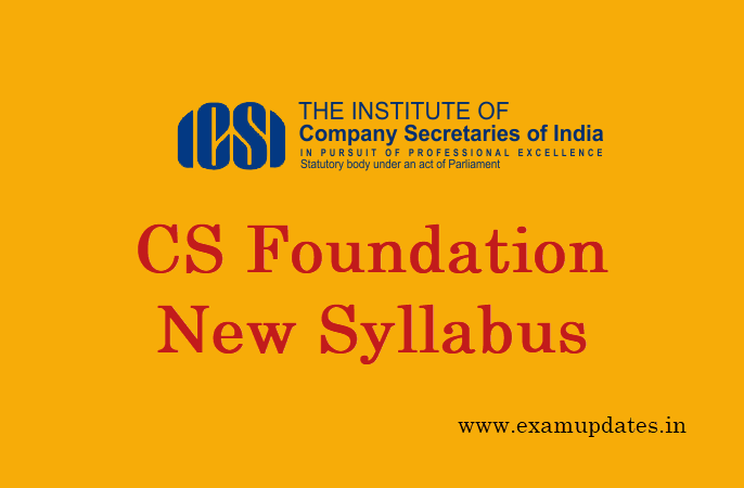 Cs foundation syllabus dec 2018 june 2019 new changes in subjects malvernweather