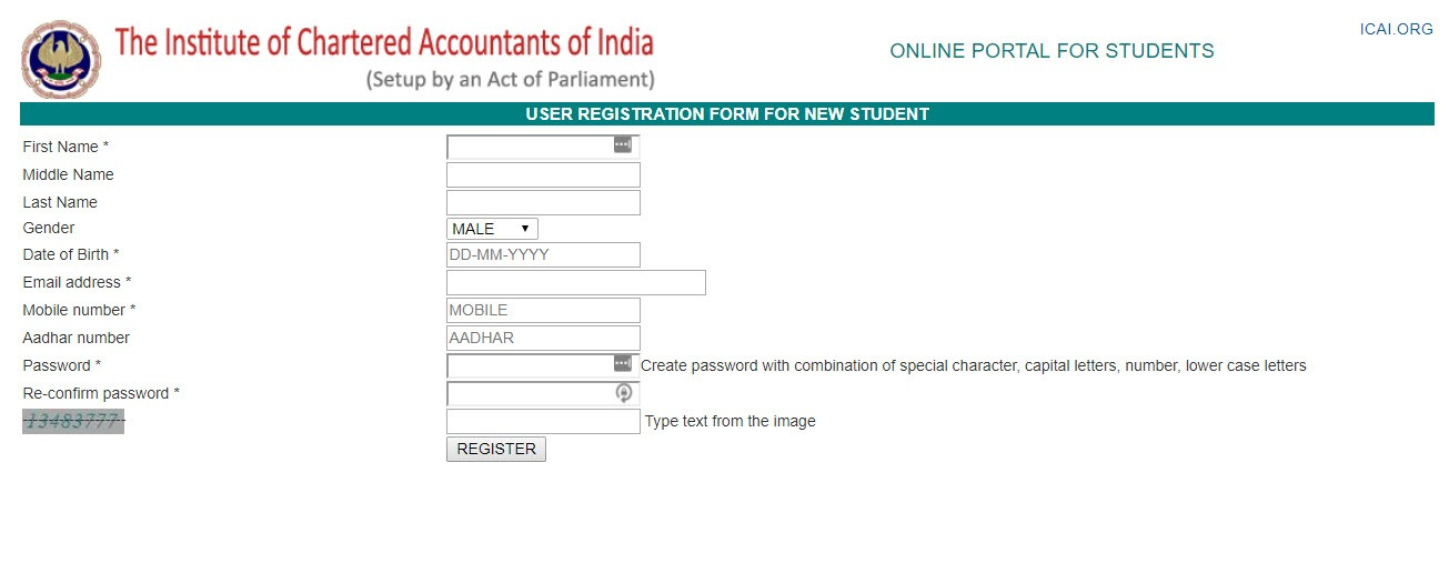 Icai registration 2018 cpt ca foundation online form last date fee icai cpt registration form 2018 ca foundation spiritdancerdesigns Gallery