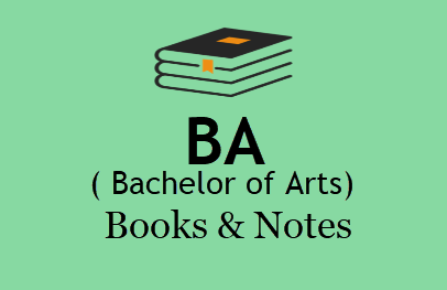 BA Books & Notes For All Semesters in PDF - 1st, 2nd , 3rd Year