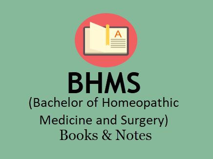 BHMS Books & Notes For All Semesters in PDF - 5 Years