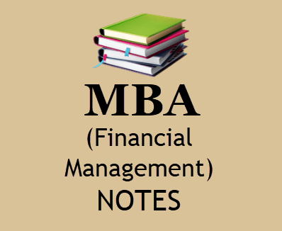 Financial Management Notes MBA Pdf - Download MBA 2nd Sem