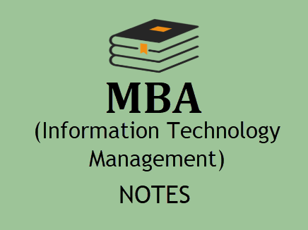 Information Technology Management MBA Notes pdf- Download