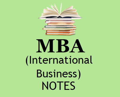 International Business Notes for MBA pdf - Download 4th Sem