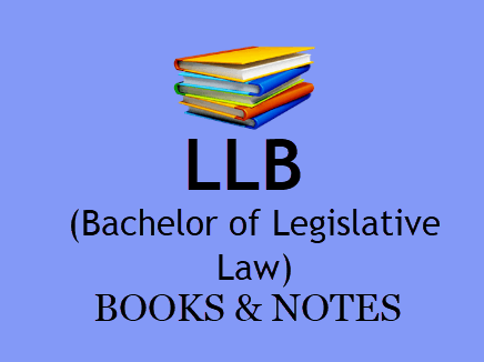 LLB Books & Notes For All Semesters in PDF - 1st, 2nd, 3rd Year