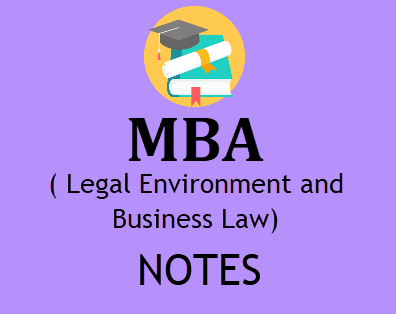 Legal Environment and Business Law Notes Pdf - Download MBA