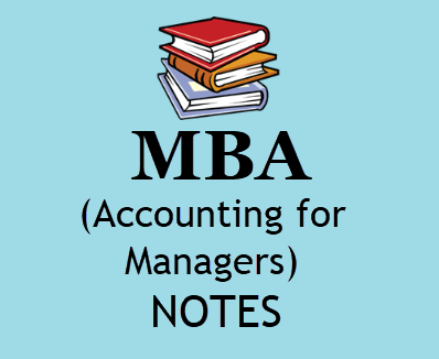MBA Accounting for Managers pdf free download- MBA 1st Sem