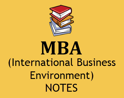 MBA International Business Environment pdf free download - MBA 3rd