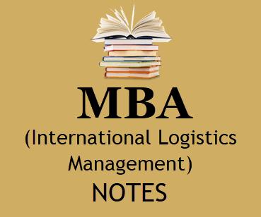 MBA International Logistics Management pdf Notes - Download