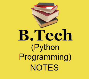 Python Programming Books Pdf Download- B tech Lecture Notes