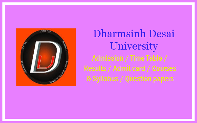 Dharmsinh Desai University Question Papers 2019 - DDU Question Papers