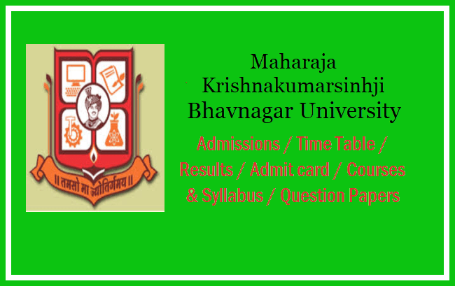 Bhavnagar University Courses & Syllabus 2019 - Semester wise
