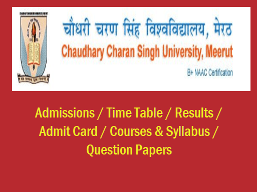 Chaudhary Charan Singh University Question Papers 2019 - CCS
