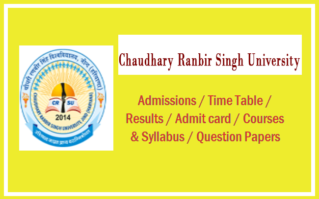 Chaudhary Ranbir Singh University Question papers 2019