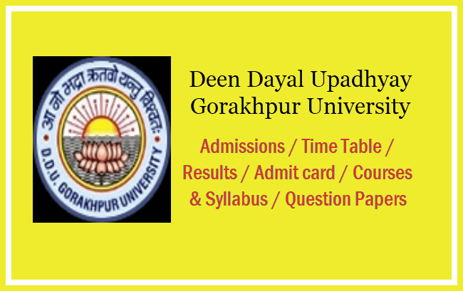 Deen Dayal Upadhyay Gorakhpur University Question Papers 2019 - UG