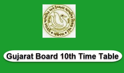 Gujarat Board SSC Time Table 2020 - GSEB SSC Exam Dates