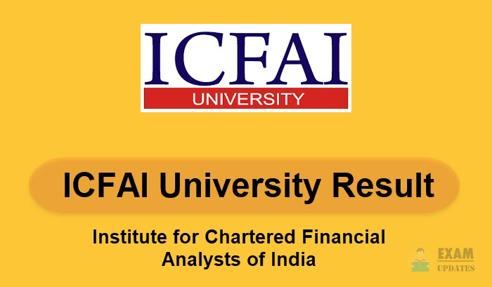 ICFAI University Result 2019 – UG/PG Courses Exam Result 1st 2nd 3rd