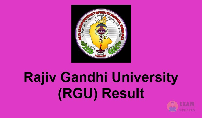 RGU Entrance Result 2019 - Check@www rgu ac in result 2019