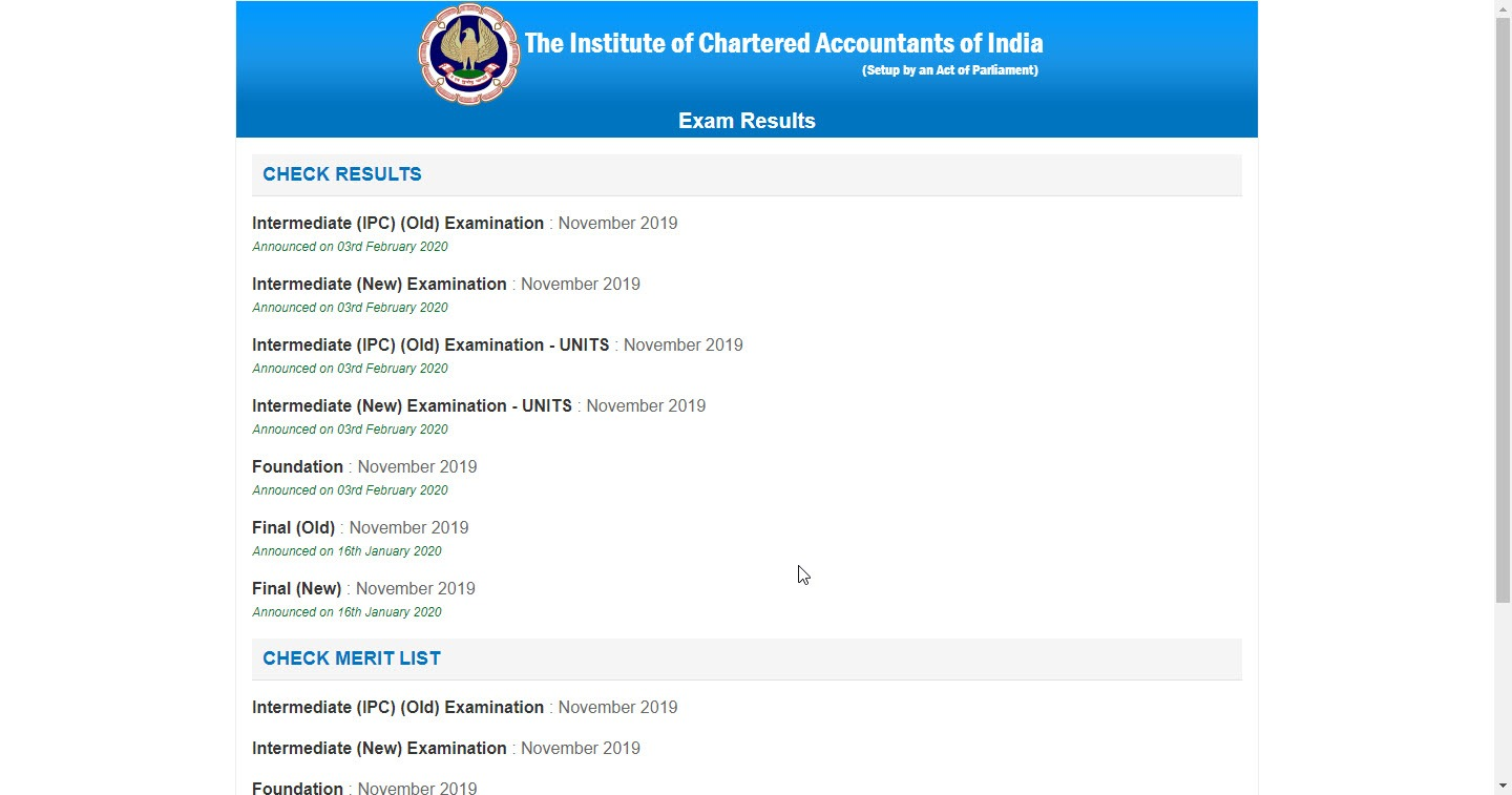 CA Final Result Nov 2020 - Pass Percentage Toppers List - ICAI Result @ icaiexam.icai.org