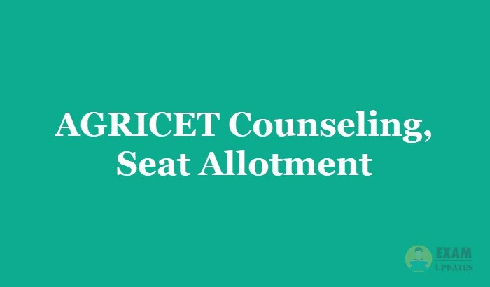 AGRICET Counselling 2019 - Check the Seat Allotment Dates
