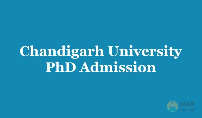 Chandigarh University Phd Admission 2020 Application Fee Courses Details