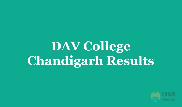 DAV College Chandigarh Results 2019 - 1st 2nd 3rd year for