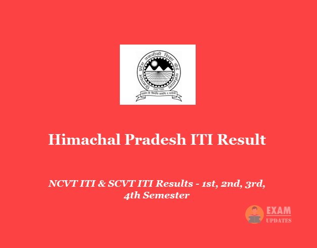Himachal Pradesh ITI Result 2019 - HP NCVT & SCVT 1st 2nd 3rd 4th