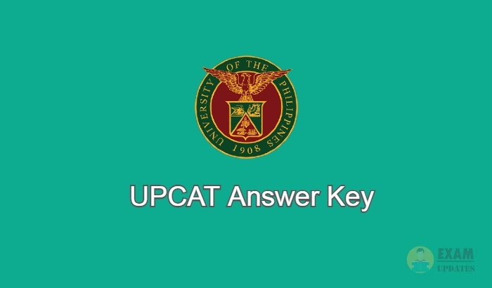 UPCAT Answer Key